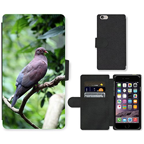 Just Phone Cases PU Leather Flip Custodia Protettiva Case Cover per // M00128632 Pigeon Oiseau Mouche Ailes Plume // Apple iPhone 6 PLUS 5.5""