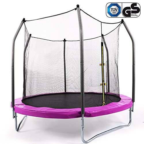 Best Price Zafuar Trampoline for Kids, Exercise Trampoline with Safety Enclosure Net and Basketball for Toddler, 8-Feet(US Stock)