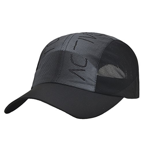 Men Summer Sea Beach Quick-dry Sun Travel Folding Mesh Running Baseball Hat Cap -