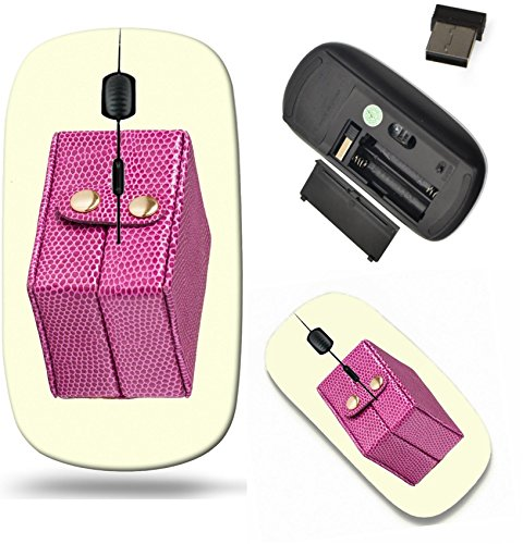 Liili Wireless Mouse Travel 2.4G Wireless Mice with USB Receiver, Click with 1000 DPI for notebook, pc, laptop, computer, mac book Pink leather box for jewelery isolated on white background 29079357