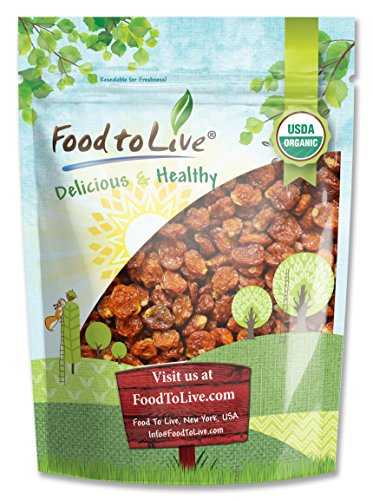 Food to Live Certified Organic Dried Golden Berries (Non-GMO, Kosher, Bulk) (8 Ounces)