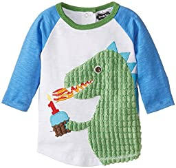 Mud Pie Baby Boys\' Raglan T-Shirt, Birthday Dino, 12-18 Months