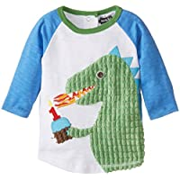 Mud Pie Baby Boys' Raglan T-Shirt, Birthday Dino, 12-18 Months