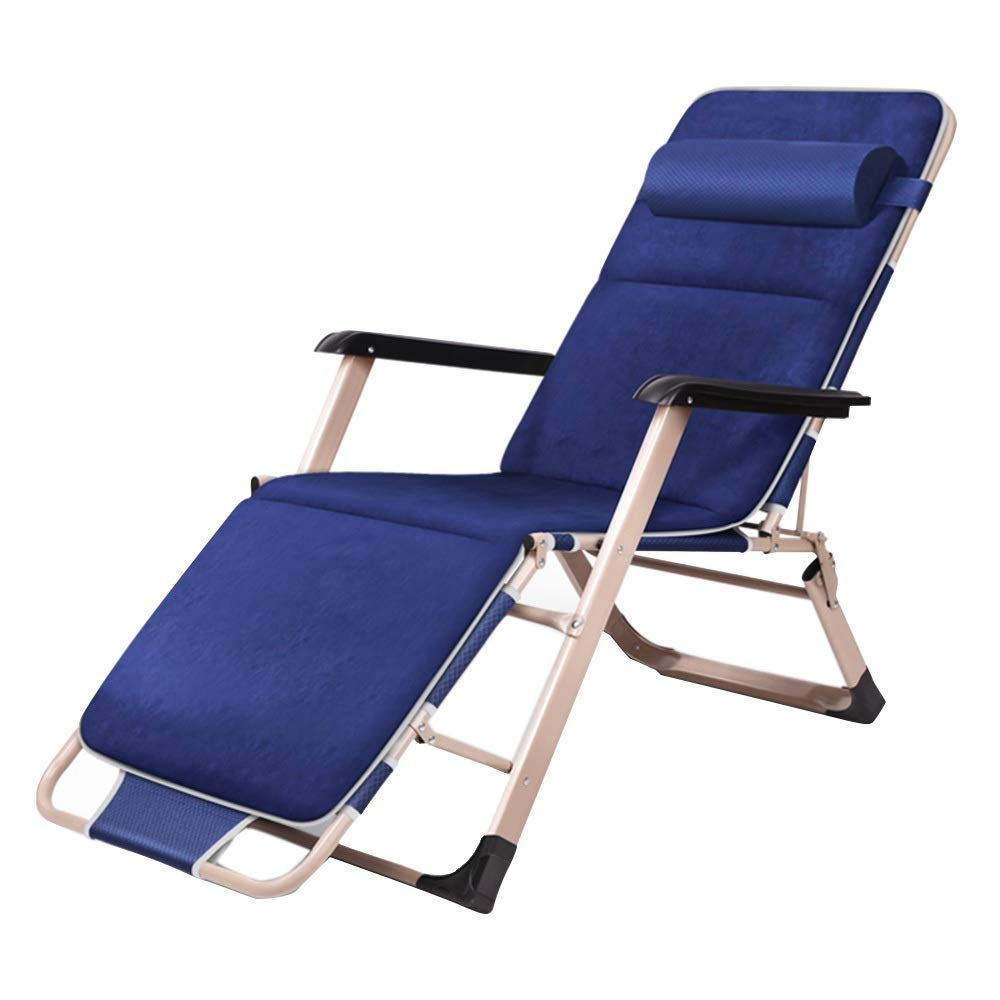bluee Chair+Mat MEIDUO Rocking Chairs Rest Lounger Recliner Chair Sun Lounger Folding Chair with Removable Headrest Adjustable Lounger Chair Garden Chair (color   bluee, Size   Chair)