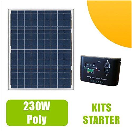 Kit Solarpanel 230W 12V und Laderegler 10A