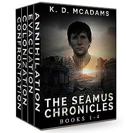 The Seamus Chronicles Books 1-4: Annihilation, Evacuation, Colonization & Confrontation by [McAdams, K. D.]