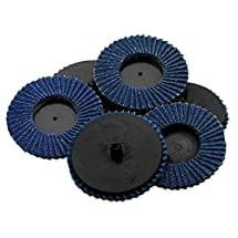 Flap Discs 60 Grit 10 Pieces 3''-Quick Change Grinding Wheels - For Rotary Tools, Die Grinder, Drill, Blending And Finishing Applications, By Katzco.