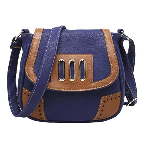 Faux Vintage Purse Leather Handbag Purple Womens Deep Bag Shoulder Tote Messenger Satchel Zfxn50w
