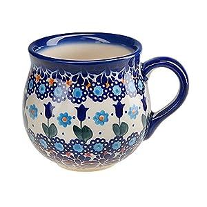 BCV Classic Boleslawiec, Polish Pottery Hand Painted Ceramic Mug, Barrel (300, U-006)