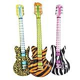 Inflatable Animal Print Rock Star Guitars (1 dz)