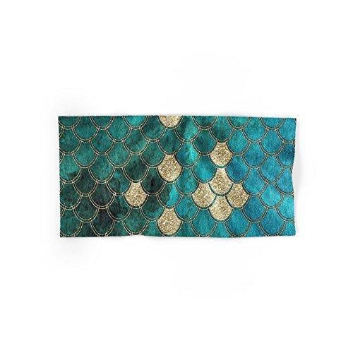 Society6 Multicolor Aqua And Gold Mermaid Scales - Beautiful