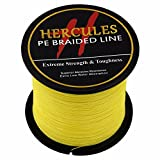 Hercules Braided Fishing Line Pe Dyneema Superline 4 Strands 300m 328yds 6lbs-100lbs