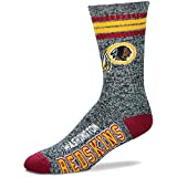 For Bare Feet Got Marbled NFL Crew Socks Men's Medium 5-10 - Washington Redskins