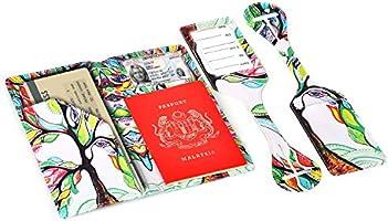 dcccbe6e31d6 XeYOU Passport Holder Travel Wallet Vegan Leather Passport Case ...