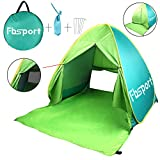 FBSPORT Portable Lightweight Beach Tent,Automatic Pop Up Sun Shelter Umbrella,Outdoor Cabana Beach Shade with UPF 50+ Sun Protection (green)