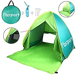 FBSPORT Beach Tent, UV Protection Pop Up Sun Shelter Lightweight Beach Sun Shade Canopy Cabana Beach Tents Fit 2-3 Person