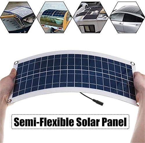 HIGHKAS 30W Solarpanel Flexibles polykristallines Modul 12V System Solar Kit Batterieladegerät Controller Ladung für Wohnmobil, Boot, Wohnwagen, Kabine, Anhänger, mit 20 AController