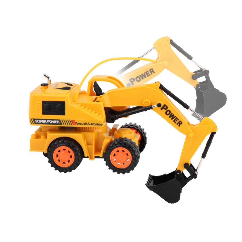 RC Excavador, Wireless RC Excavador Construcción Digger Control Remoto Eléctrico Juguete Camión Niños Coche(#6): Amazon.es: Juguetes y juegos