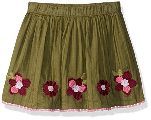 Gymboree Baby Girls Floral Print Flare Skirt, Light Green Embroidered Flower, 2T