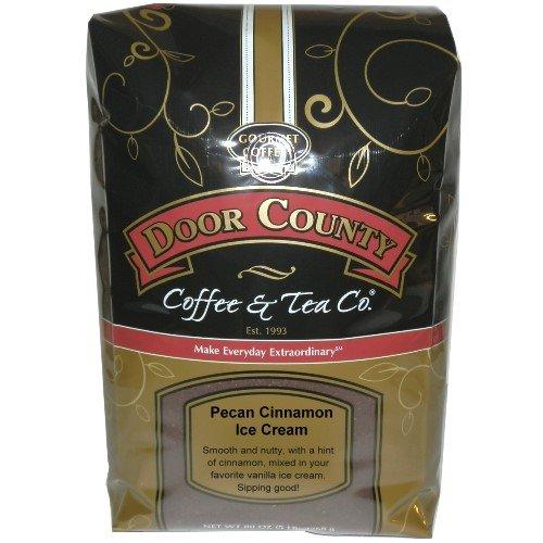 Door County Coffee, Pecan Cinnamon Ice Cream, Ground, 5lb Bag