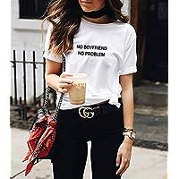 Blusa Playera Camiseta Dama No Boyfriend No Problem Elite #541