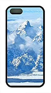 iPhone 5 5S Case landscapes nature snow mountain 25 TPU Custom iPhone 5 5S Case Cover Black
