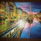 Jigsaw Puzzle Calidad 500 Pieza Copenhague escena Colorido Tradicional En Caja
