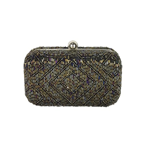 From Box Hayley Art Clutch Beaded Deco Multi St Xavier rqfCwRr