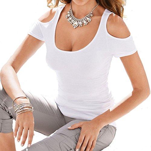 YeeSure Shoulder Cotton Shirts Women