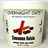 DAVE'S GOURMET, Ovrnt Oats, Cinnamon Raisn, Pack of 8, Size 2.1 OZ, (Gluten Free Kosher Wheat Free)