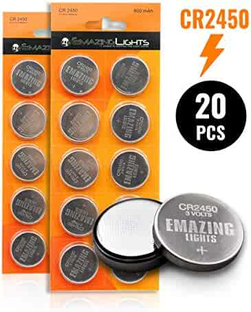 EmazingLights CR2450 Batteries (20 Pack) 3 Volt Button Cell Lithium Battery