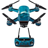 Skin for DJI Spark Mini Drone Combo - Shark| MightySkins Protective, Durable, and Unique Vinyl Decal wrap cover | Easy To Apply, Remove, and Change Styles | Made in the USA