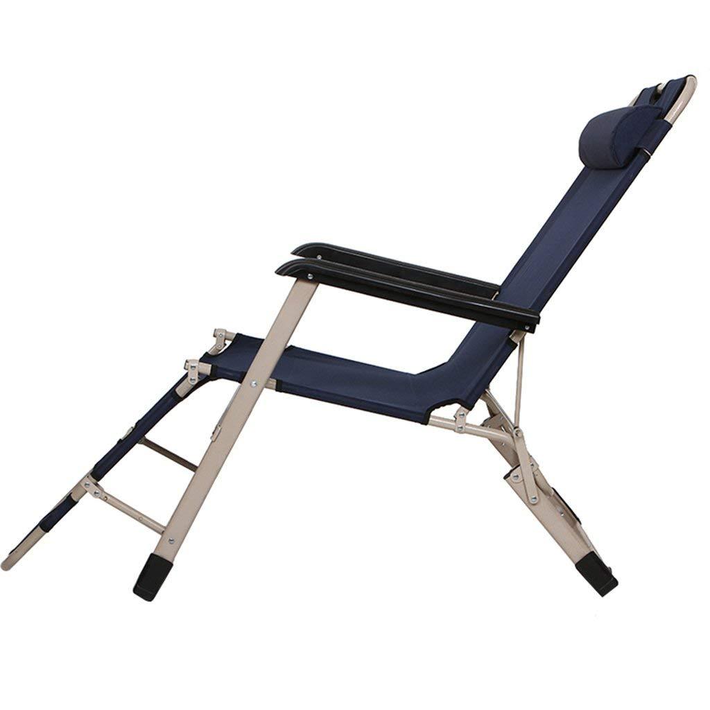 折りたたみ椅子と折りたたみ式ベッド介護ベッドSiestaベッドシットアンドリーデュアルパーパスリクライニング可能ネイビーブルーと調節可能なパッド入り枕,a B07T65Q3VL a