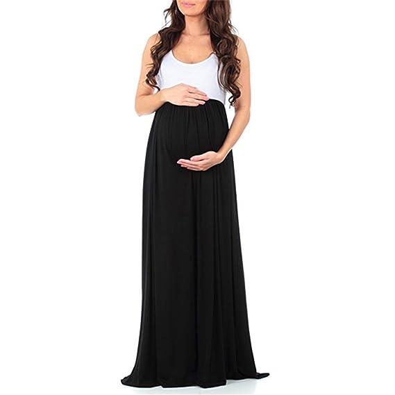 Vestido Elegante Para Mujer Embarazada Color Liso Cuello