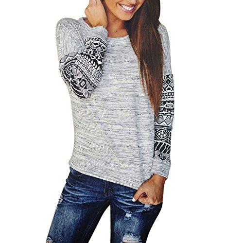 Luxsea Women Fashion Sexy Long Sleeve Cotton Shirt Lace Blouse Casual T-Shirt