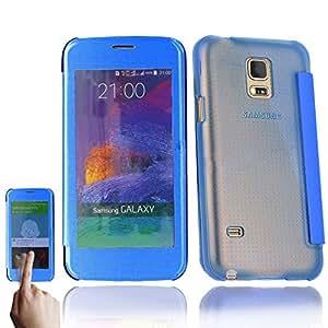 Funda Flip Cover View BW G3Samsung Galaxy S5Gold–Dreamshop75-, compatible con Samsung Galaxy S5, color azul