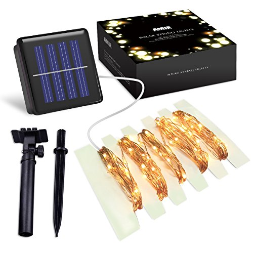 Amir Solar Powered String Lights 100 Led Christmas Lights