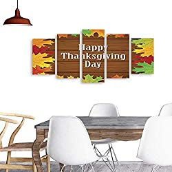 UHOO Modern PaintingsThanksgiving Day Background with Maple Leaves. Home Furnishing Decorative Background Wall Mural Painting