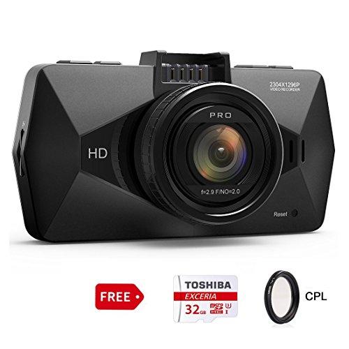 "Dash Cam, SEYDI F1 Car Camera : 2.7"" Screen 2K Full HD 12..."