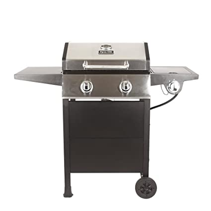 Dyna-Glo DGF350CSP-D 2-Burner Open Cart Propane Gas Grill in Stainless  Steel and Black