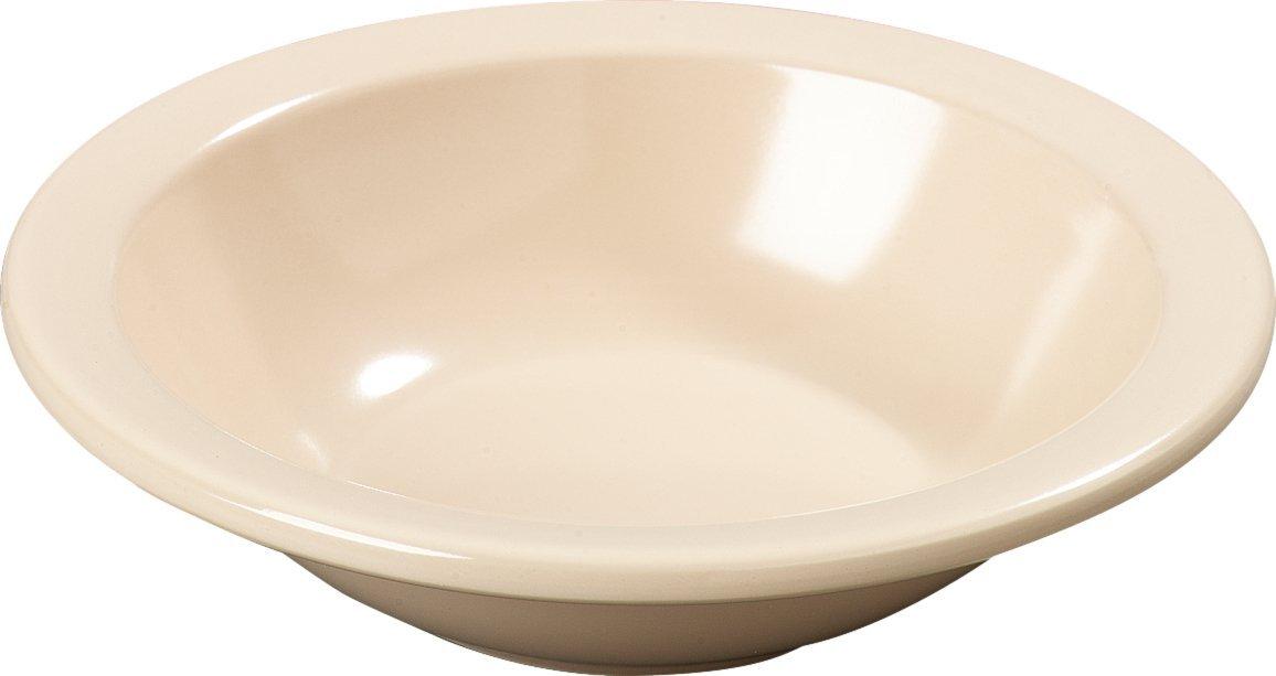 Carlisle KL12125 Kingline Melamine Grapefruit Bowl, 9.60 fl. oz. Capacity, 5.95'' Dia. x 1.52'' H, Tan (Case of 48)