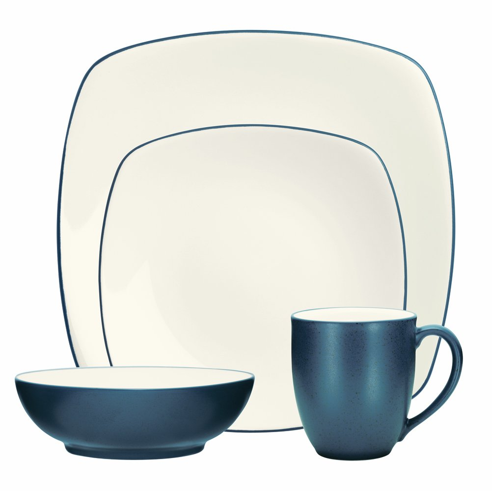 Amazon.com | Noritake 4-Piece Colorwave Square Place Setting Blue Dinnerware Sets Dinnerware Sets  sc 1 st  Amazon.com & Amazon.com | Noritake 4-Piece Colorwave Square Place Setting Blue ...