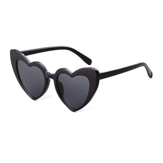 Amazon.com: Gafas de sol Clout Goggle con forma de corazón ...