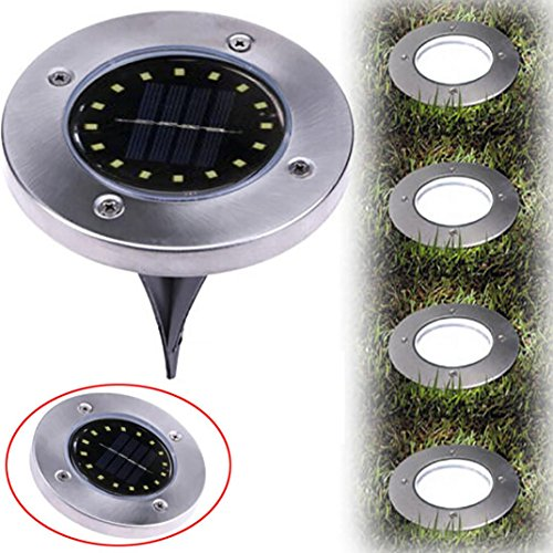 Fheaven (TM) Solar Power Buried Light Ground With 16LED Lamp Outdoor Path Garden Decking