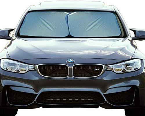 EcoNour Foldable 2-Piece Premium Car Windshield Sunshade   UV Protector Automotive Window Sunshades   Fit for Cars, SUVs, Vans, Trucks   Front Window Car Visor Accessories (Medium 28 x 31 inches)