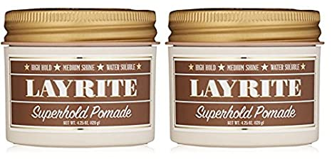 Layrite Water Soluble Pomade - Super Hold - 4.25 oz (2 packs)