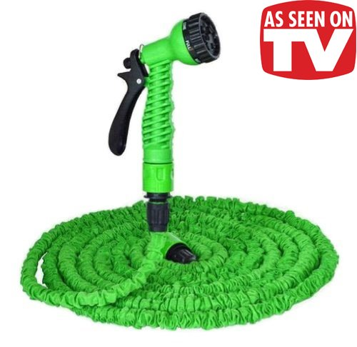 Extra Long 75-Ft Flexible Expandable Garden Hose with Nozzle As Seen On TV