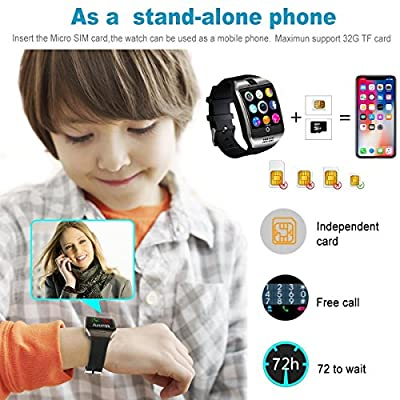 Bluetooth Smart Watch with Camera TouchScreen