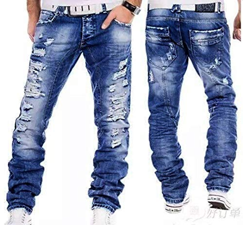 Pantalones Pantalones De Pantalones De Mezclilla Vaqueros La Hombres Pantalones Pantalones Griegos Destruidos Clásico Los Regularmente Los De Los De Rec Vaqueros De Blau Vendimia Chicos fzvTqqwx