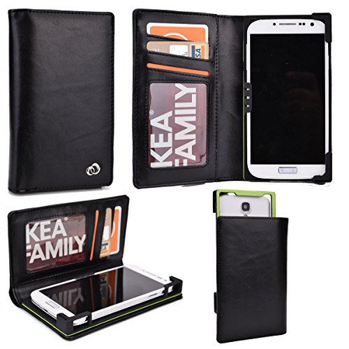 Universal Genuine Leather Men's Wallet Smartphone Case Fi...
